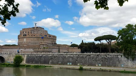 mausoléu : ROME. ITALY. May 21, 2019 Castel Sant Angelo or Mausoleum in Rome Italy. Historical castle, which is located near the Vatican. Tourist place of Rome.