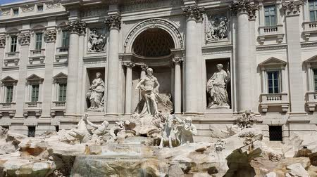 bernini : Trevi fountain on a Sunny day in Rome, Italy. Famous tourist place in Rome.
