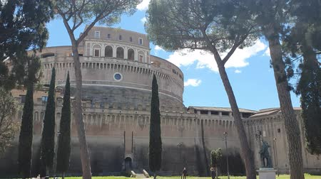 divino : Pine Park near the castle of St. Angelo in Rome Italy
