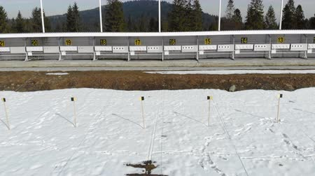 メダル : Biathlon. Panorama of targets for shooting during the biathlon. The numbering of the targets
