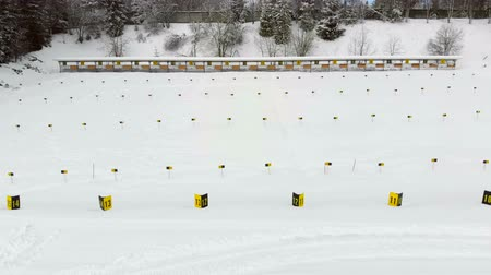 atirador : Biathlon. Panorama of targets for shooting during the biathlon. The numbering of the targets