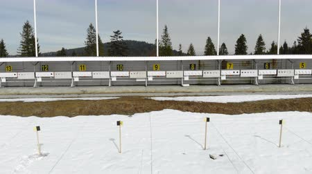 şanslı : Biathlon. Panorama of targets for shooting during the biathlon. The numbering of the targets