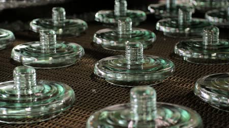 mold : Finished insulators, move by conveyor after cooling in water.