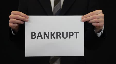 desemprego : Bankrupt Businessman Stock Footage