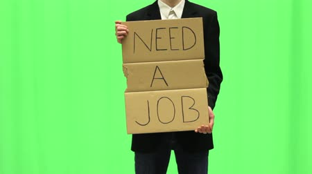 bezrobocie : Young unemployed business man in need for job