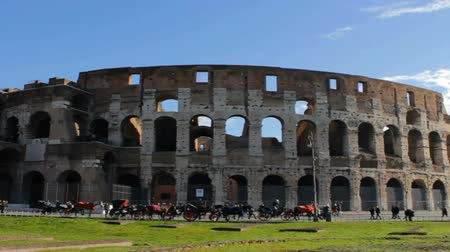 gladiatorial : Roman Coliseum Long Shot with Pan