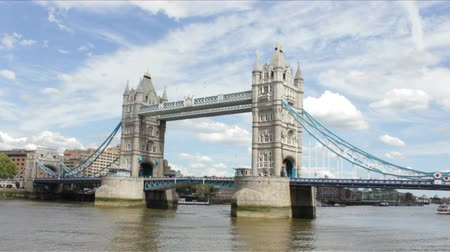 tower bridge : London Bridge on a cloudy summer day. Stock Footage