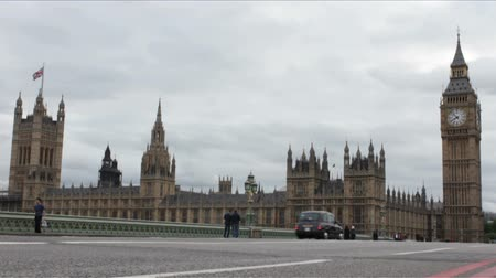 big ben : Westminster and Big Ben Time Lapse on a cloudy day.