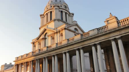greenwich : Old Royal Naval College in Greenwich London. Filmed on a sunny summer evening. Stock Footage