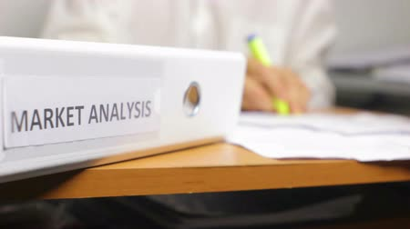 Doing Business in the Office and Market Analysis Concept