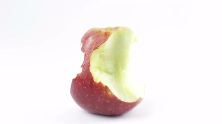 Fresh Ripe Apple Eaten Stop Motion. Healthy Eating Concept