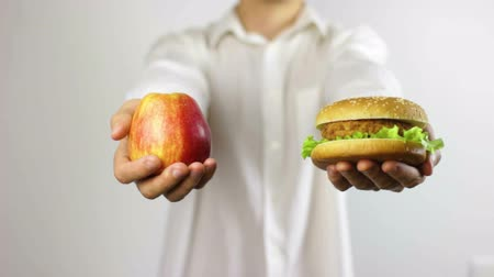 Healthy vs Unhealthy Food Concept