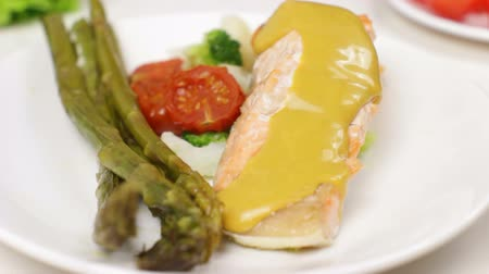 Salmon with Asparagus and Fish Sauce
