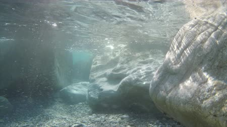 Underwater stone 4k and light