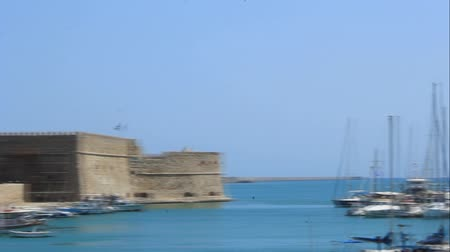 HERAKLION, CRETE, GREECE - JULY 30, 2013: Panorama of the port of Heraklion