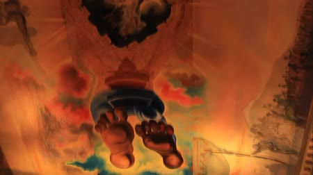 FIGUERES, SPAIN - JULY 17, 2013: The ceiling in the museum of Salvador Dali