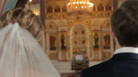 Wedding in the Orthodox Church Stock Footage