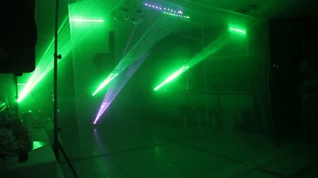 dyskoteka : laser show from multi-colored rays