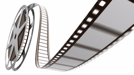 films : Roterende film reel. Stockvideo