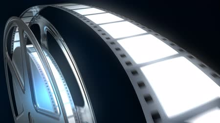broadcast video : Rotating film reel.