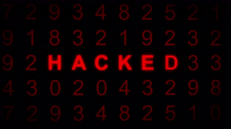 code : Concept of computer code being hacked. Stock Footage