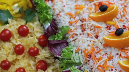 буфет : pasta with cherry tomatoes and rice