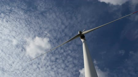 energy generation : energy wind turbines and sky with clouds Stock Footage