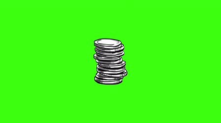 robbed : Financial Stack of Coins