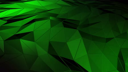 smashing : Abstract polygonal space low poly with binding surface. Futuristic HUD background Stock Footage