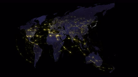 kontinens : Abstract of world network, internet and global connection concept. Video is looped Stock mozgókép