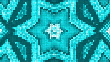 seramik : Abstract complex pattern from a mosaic. Dynamic bright transforming and pulsating composition. Looped Stok Video