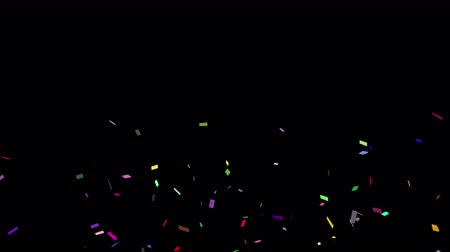 Bright dynamic and festive confetti, which will be useful for any material. Will help to convey a festive mood or brightly complement the presentation. looped Стоковые видеозаписи