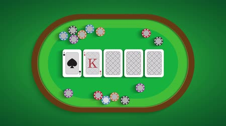 loção : Poker table with a combination of Ace & King