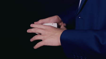 gesture pack : Young magician show a trick with cards