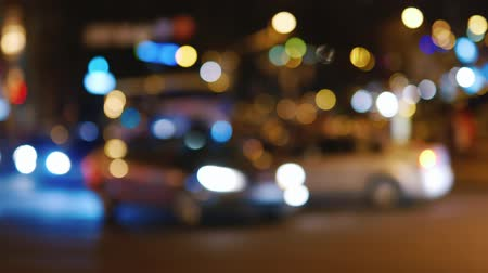 maska : Night road with cars in blurred image Wideo