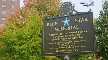 bufala : Buffalo, NY, USA - 20 OTTOBRE 2016: Blue Star Memorial. Buffalo e Erie paese Navale e Military Park Filmati Stock