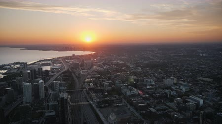 bulutluluk : Evening Toronto, view from the air. The sun sets over the city