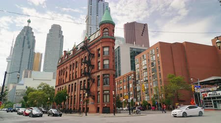 flatiron building : Toronto, Canada, October 2017: Flatiron Building in the eastern part of Toronto, the financial center of the city