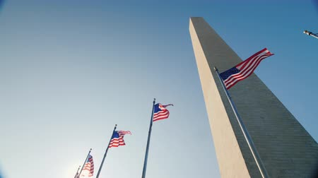 bluestone : Washington Monument in the District of Columbia, Lower angle video Stock Footage
