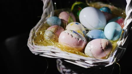 frango : Traditional Easter decorations - Easter eggs Stock Footage