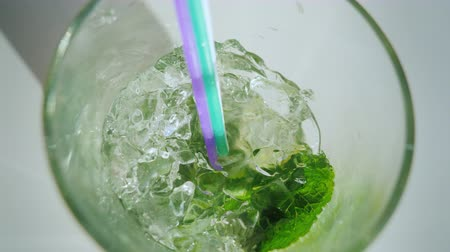 first person : To drink a cool cocktail mojito, a first-person view