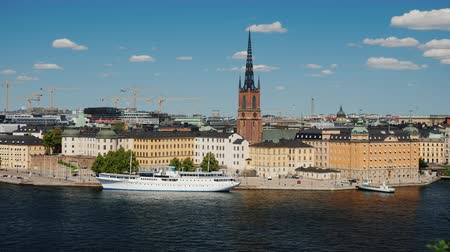 Швеция : Beautiful view on the city of Stockholm - the capital of Sweden