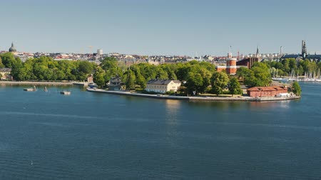 stockholm : View of the island Djurgarden in Stockholm, where the famous lunapark Grona Lund is located