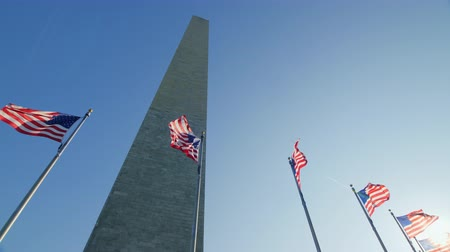 herdenking : Washingtoning Monument. Zonne-glans in het frame