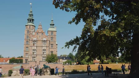copenhagen : Copenhagen, Denmark, July 2018: Rosenborg - the former residence of the Danish kings, built on the orders of King Christian IV on the outskirts of Copenhagen in 1606-1624