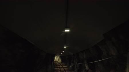 emekli olmak : A view of the funicular tunnel that passes under the ground. The car goes up
