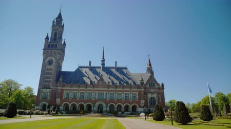 jurisdiction : Hague,Netherlands, May 2018: The Peace Palace in The Hague, where the seat of the International Court of Justice is located