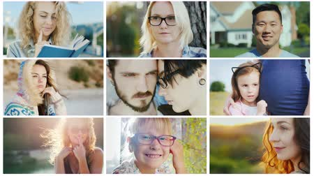 otcovství : A collage of portraits of young people