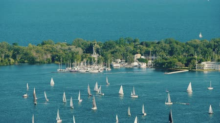 yat yarışı : Sailing Regatta Around Central Island Opposite Toronto Canada