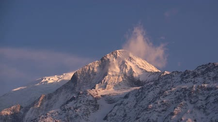 морозный : View of Mont Blanc. The view from Les Houches. 4810 meters above sea level.